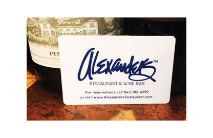 Alexander's Restaurant Traditional Gift Card