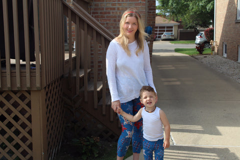 lularoe matching mother son daughter toddler leggings pants outfits Chicago blogger mother blogging