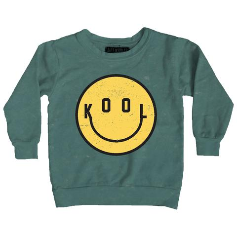 tiny whales Kool smiley face sweatshirt American made kids infant toddler clothing