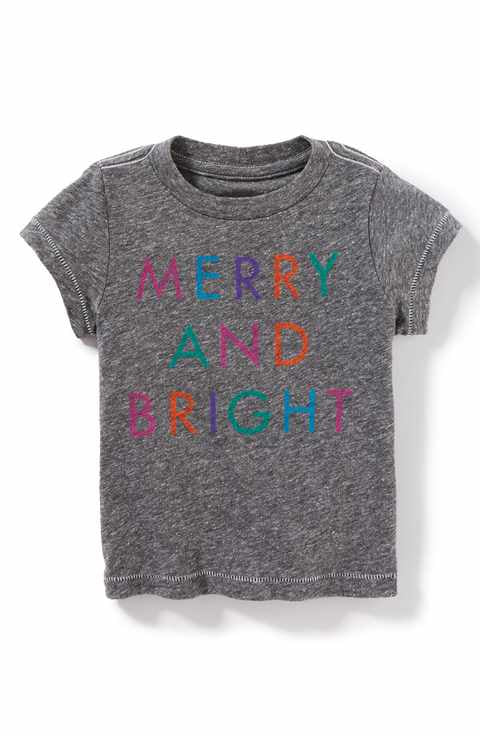peek kids merry & Bright Tee t-shirt holiday kids infant toddler Christmas