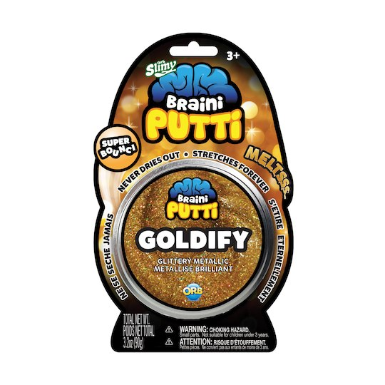 brain putty glorify non drying super bouncy glittery metallic putty slime dough