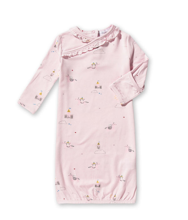 angel dear unicorn dreams infant newborn baby sleep sac gown pink organic