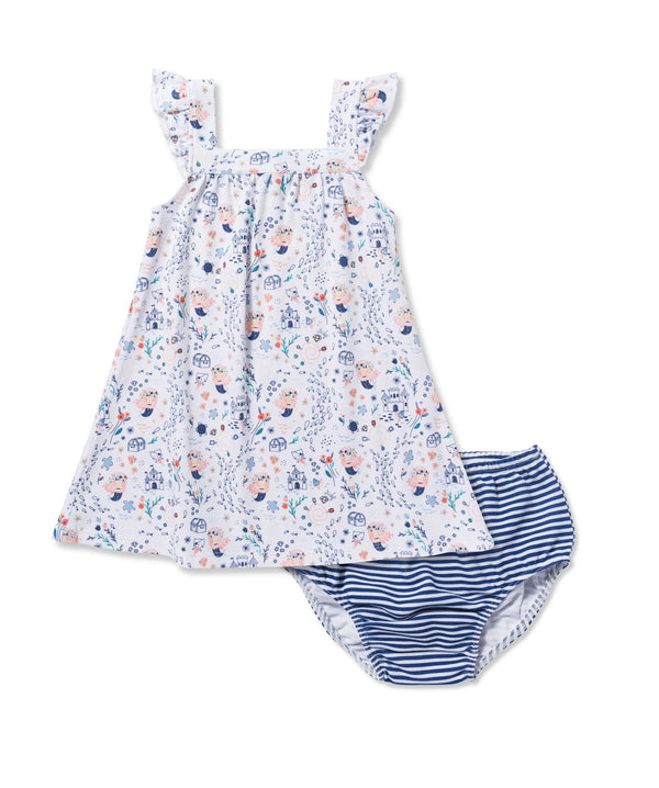 Angel Dear Mermaid Sun Dress With Diaper Cover
