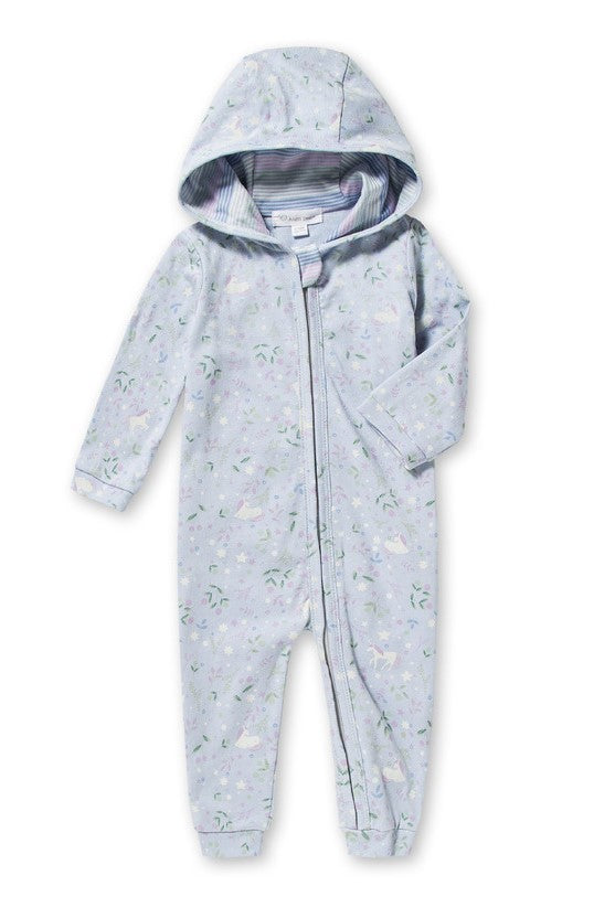 angel dear infant baby newborn unicorn hooded onesie romper print uni the unicorn