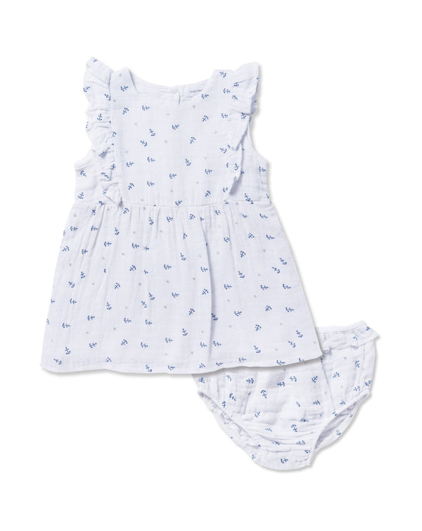 Angel Dear Muslin Anchor Sun Dress With Diaper Cover