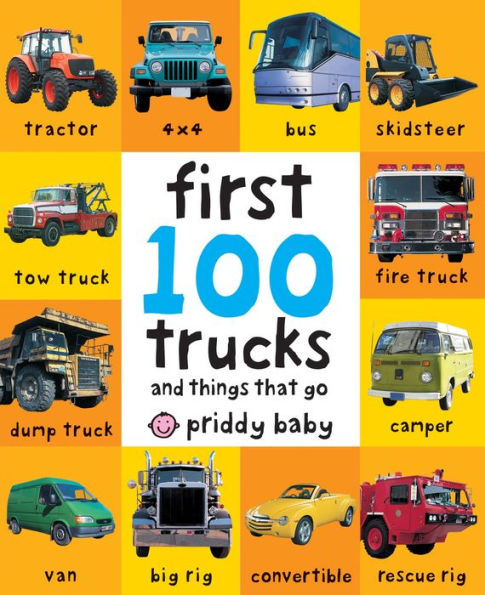 first 100 trucks board book infant toddler baby gift diggers truck construction site