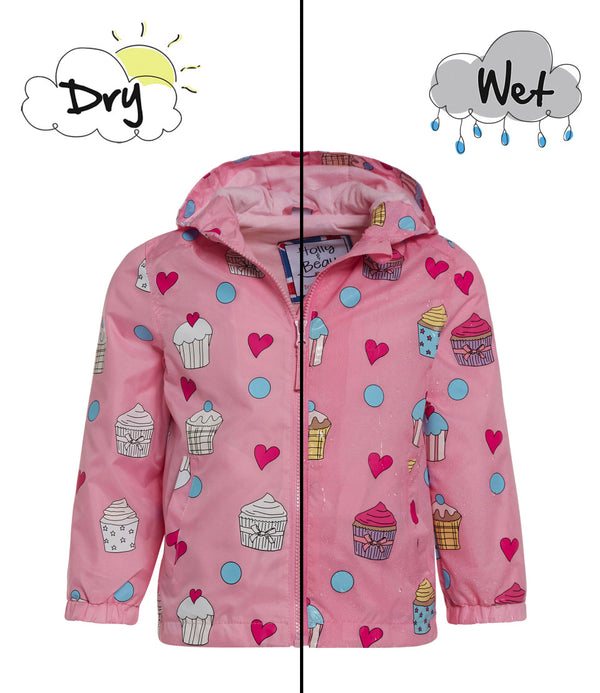 Holly + Beau Color Changing Raincoat Pink Cupcake