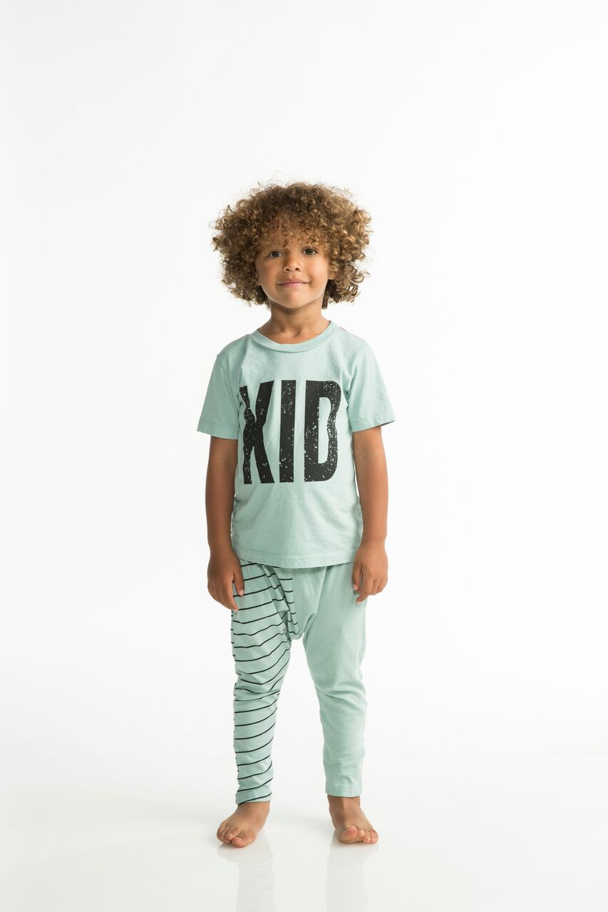 Joah Love Drew Kid Printed Tee in Sail