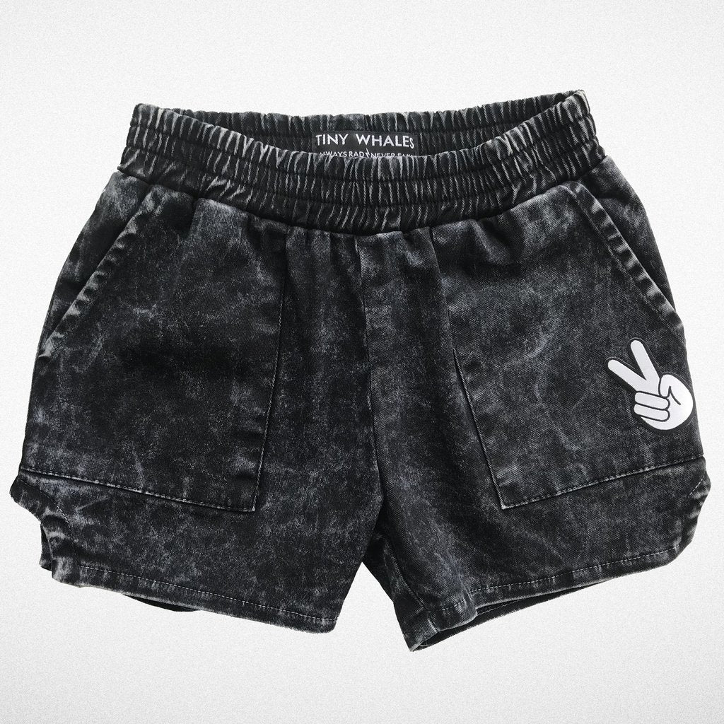 Tiny Whales Dad Shorts Mineral Black