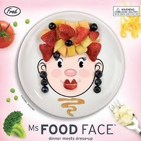Fred & Friends Ms. Food Face Funny Face Plate