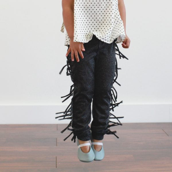organic cotton hipster kids fringe leggings pants