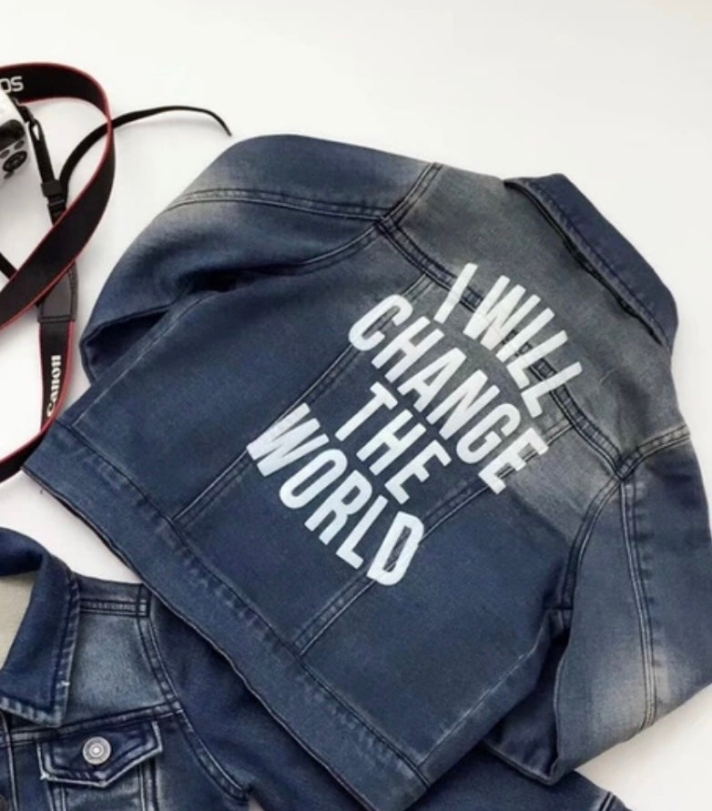 I Will Change The World Classic Denim Jacket