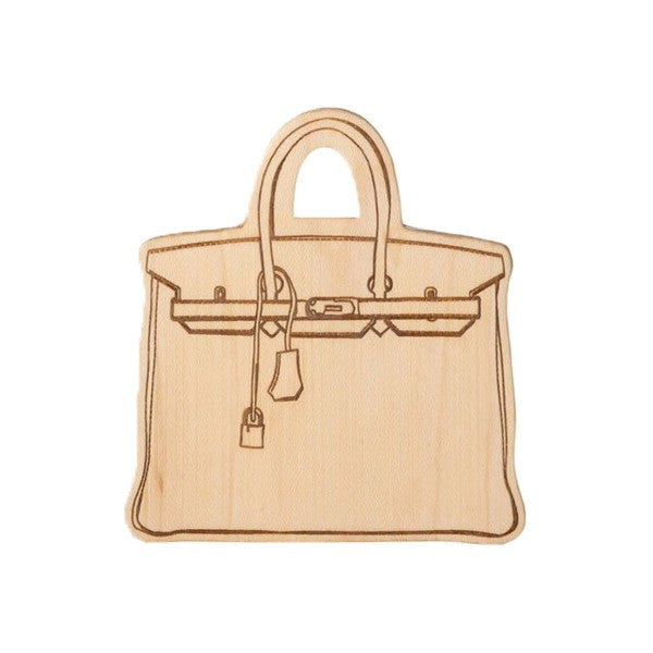 LexyPexy Eco Chic Wooden Teether- Everly Birkin Bag