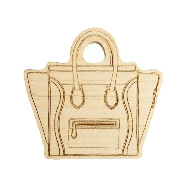 LexyPexy Eco Chic Wooden Teether- Sophie Celine Bag
