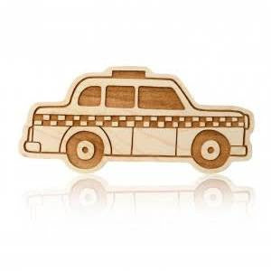 LexyPexy Eco Chic Wooden Teether- Penelope Taxi