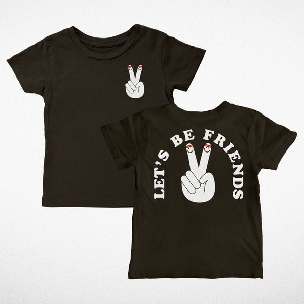Tiny Whales lets be friends peace sign S/S 18 sprng summer tank top tee im not a tourist i live here american made city chicago kid