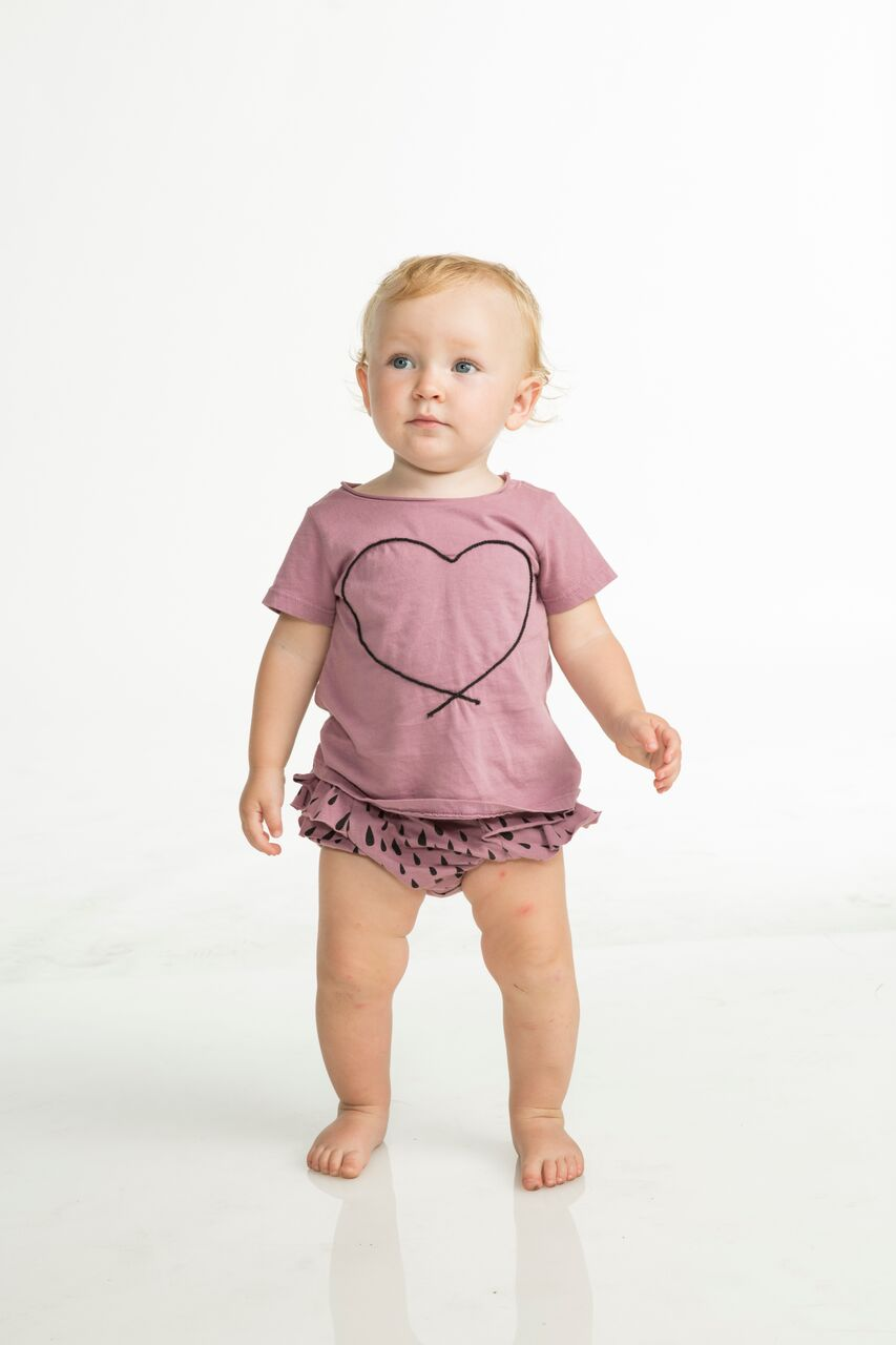 Joah Love Mae Two Piece Set in Iris with Rain Drop Bloomers