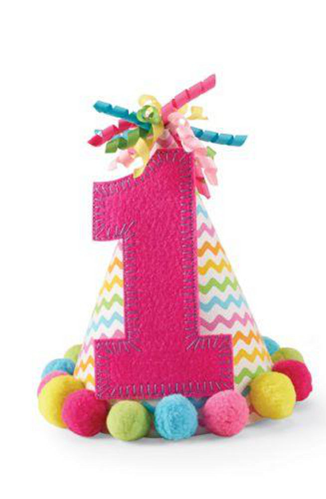 Mud Pie First Birthday Party Hat Pink