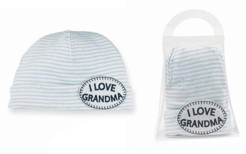 Mud Pie I Love Grandma Newborn Hat Blue