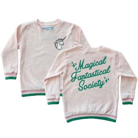 tiny whales magical fantastical society sweatshirt American made kids toddler infant hipster clothing
