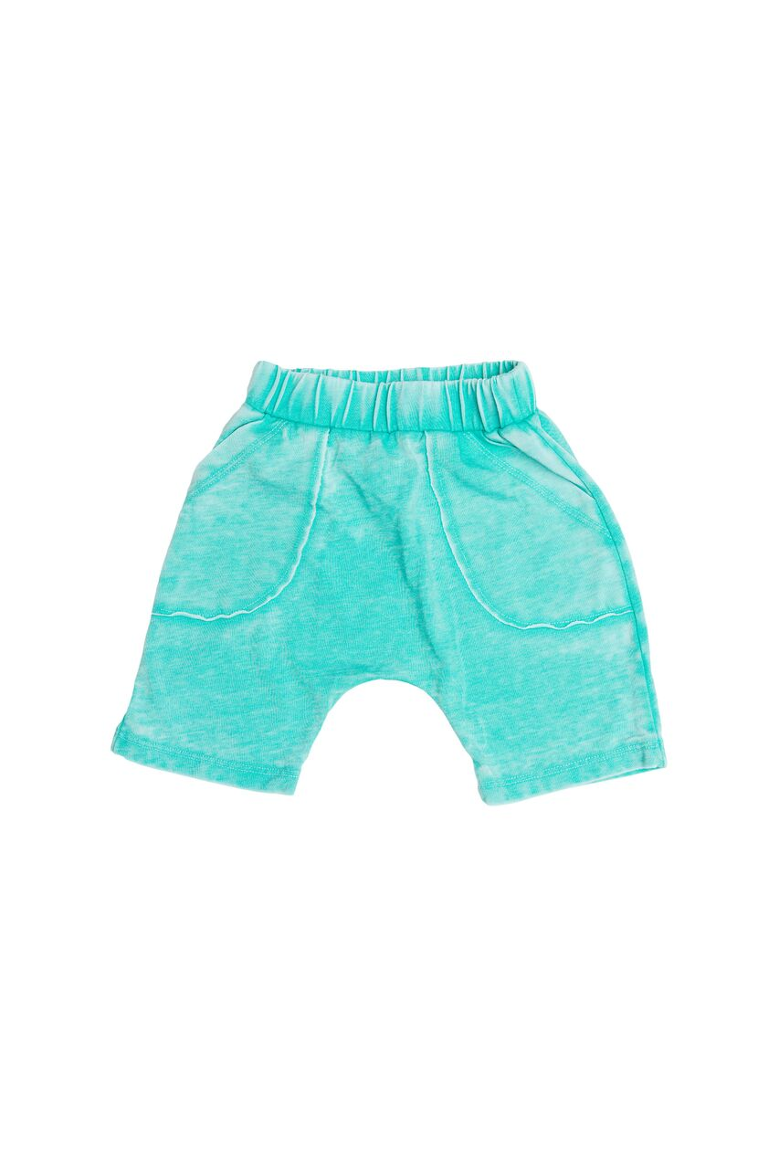 Joah Love Neal Unisex Distressed Burnout Light Shorts in St Barts