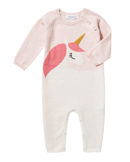 angel dear unicorn infant baby knit romper onesie coverall luxury knit clothing