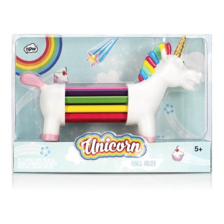 unicorn colored pencils holder npw rainbow pencil holder desk supplies office