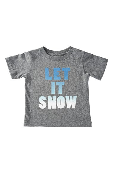 peek let it snow t-shirt t infant toddler baby child unisex snow winter holiday Christmas gift