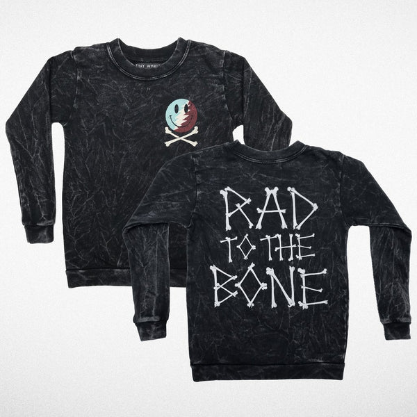 tiny whales rad to the bone crewneck Windy City bebe cool kids hipster kids skull bones chicago
