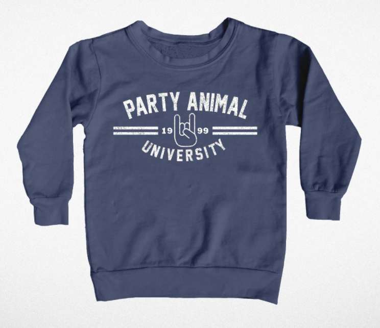 Tiny Whales F/W 18 Party Animal University Crewneck Sweatshirt