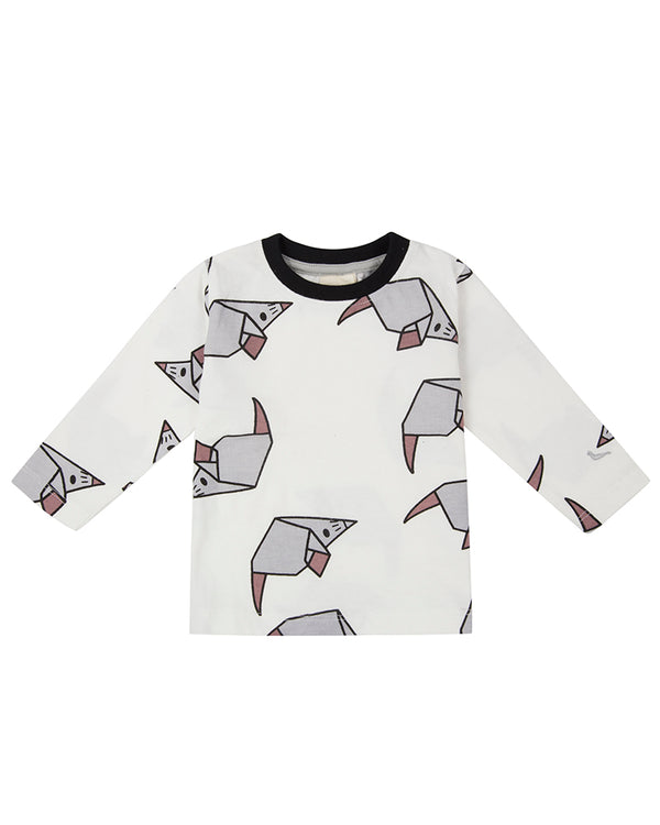 SALE 1-2 YR Turtledove London Organic Origami Mouse T-shirt Tee Kids