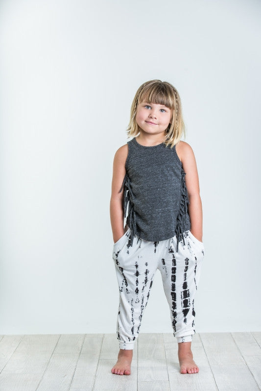 Joah Love Teagan Triblend Jersey Fringe Tank Top Kids
