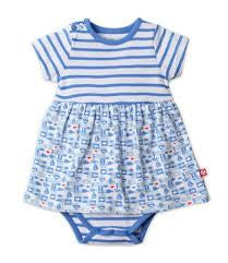 SALE 18M ONLY Zutano Bateau Print Romper Dress