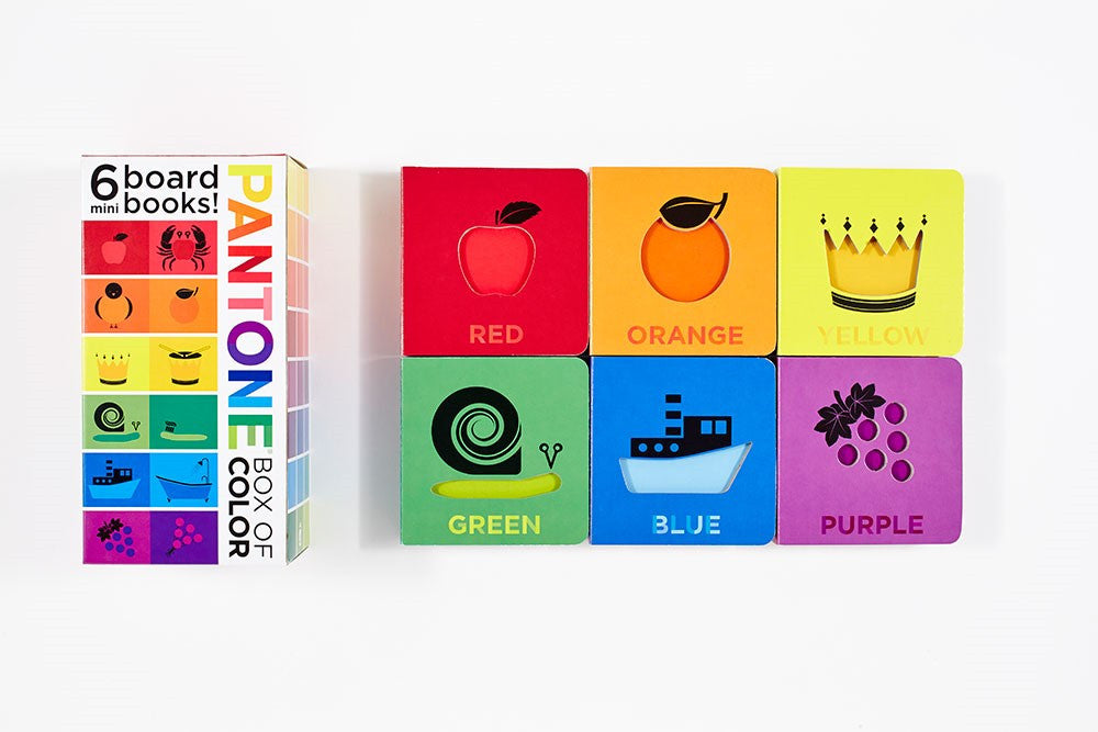 pantone box of color 6 mini board books baby