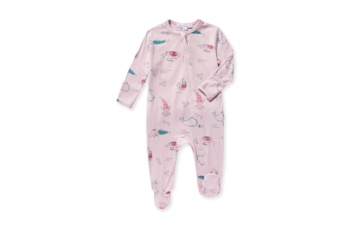 angel dear mermaid and friends zipper footed pajama pjs zippered zip up