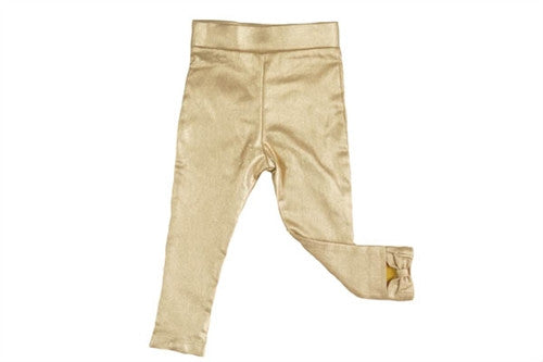Aioty NYC Faux Leather Bow Back Leggings Gold or Silver Available