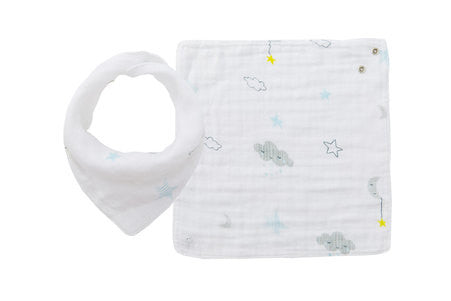 angel dear muslin starry night bandana bib baby drool teething cool style