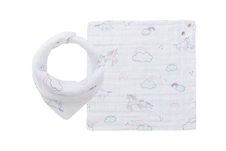angel dear muslin unicorn starry night bandana bib baby drool teething cool style