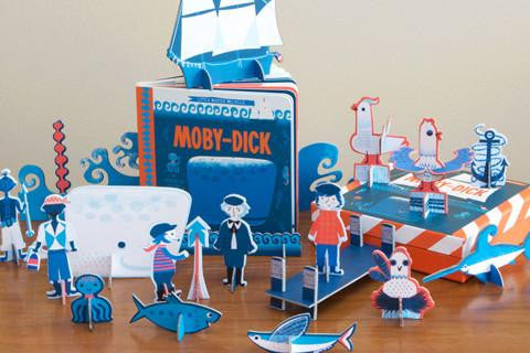 Moby Dick : A BabyLit Ocean Primer Book & Playset
