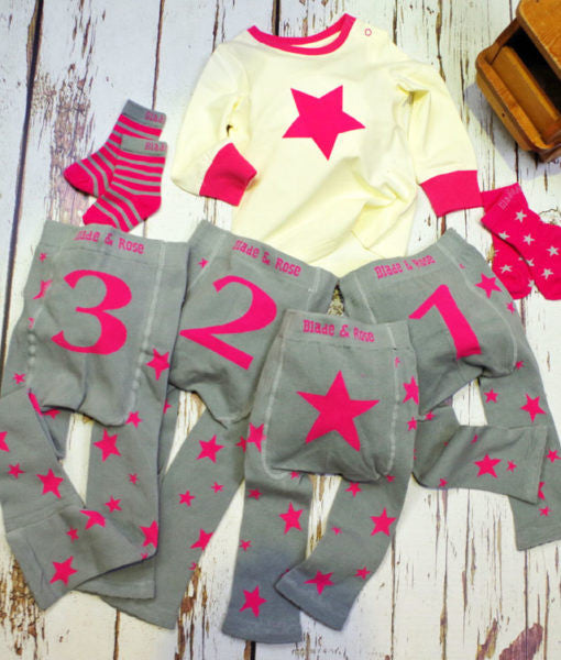 Blade & Rose Number Birthday Knit Leggings Pink