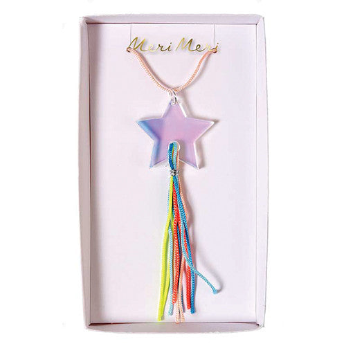meri meri acrylic tassel star necklace