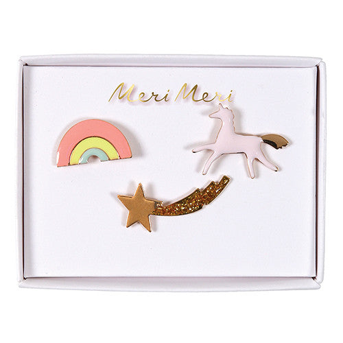 meri meri enamel pins for jacket hat backpack kids designer rainbow