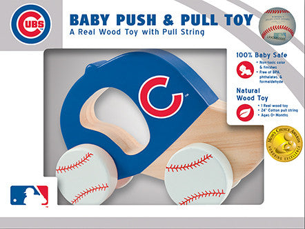 Chicago Cubs Wooden Push & Pull Toy