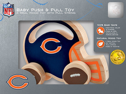 Chicago Bears Wooden Push & Pull Toy Zamboni