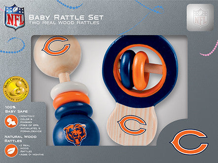 Chicago Bears Wooden Rattle Gift Set