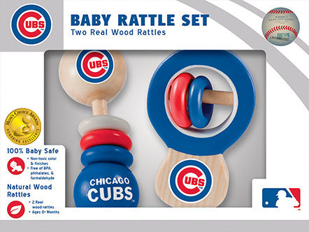 Chicago Cubs Wooden Rattle Gift Set