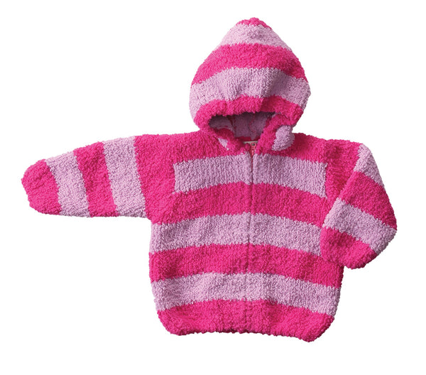 Angel Dear Chenille Jacket Zip up carseat safe cold weather striped chenille knit cool kids