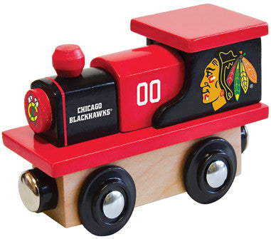 Chicago Blackhawks Wooden Train (Fits Most Wooden Track Sets)
