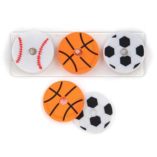 SALE Chewbeads Silicone Stacking Sports Teether Toy