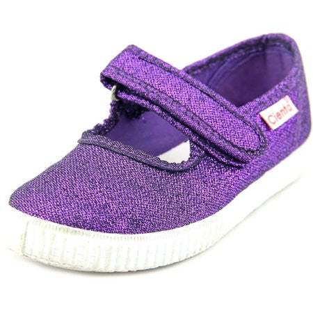 Cienta Sparkle Mary Jane Sneaker Violeta Purple Glitter